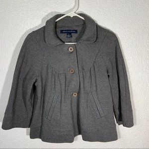 French Connection Gray Cotton Jacket